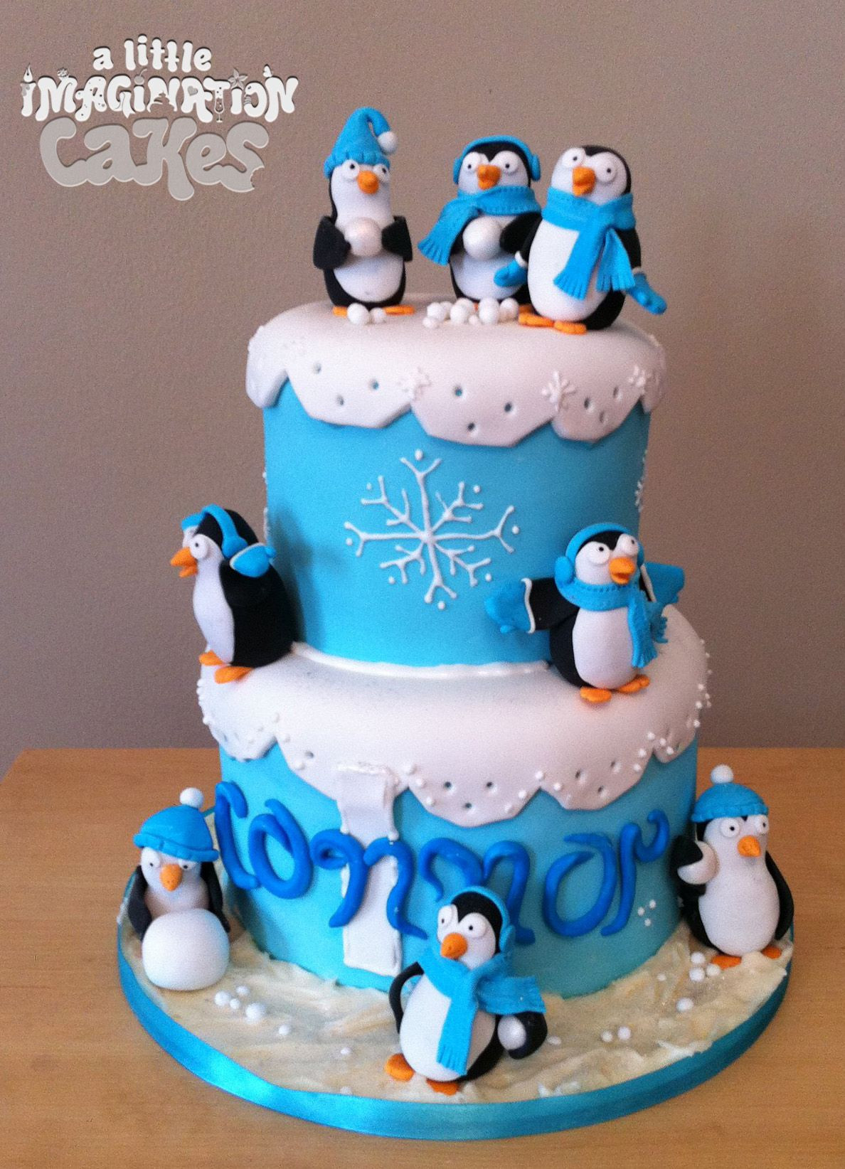 Best ideas about Penguins Birthday Cake . Save or Pin Penguin 1st Birthday Cake by A Little Imagination Cakes Now.