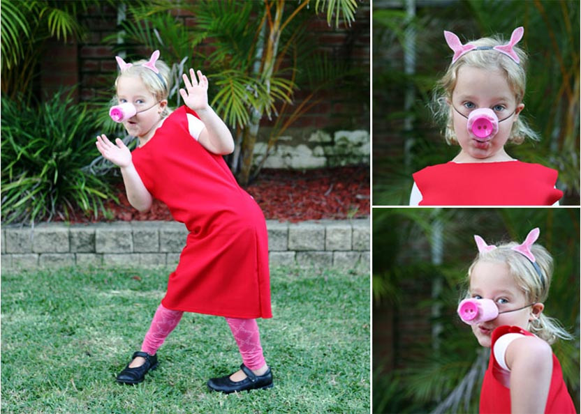 Best ideas about Peppa Pig Costume DIY . Save or Pin Easy DIY Peppa Pig costume Now.