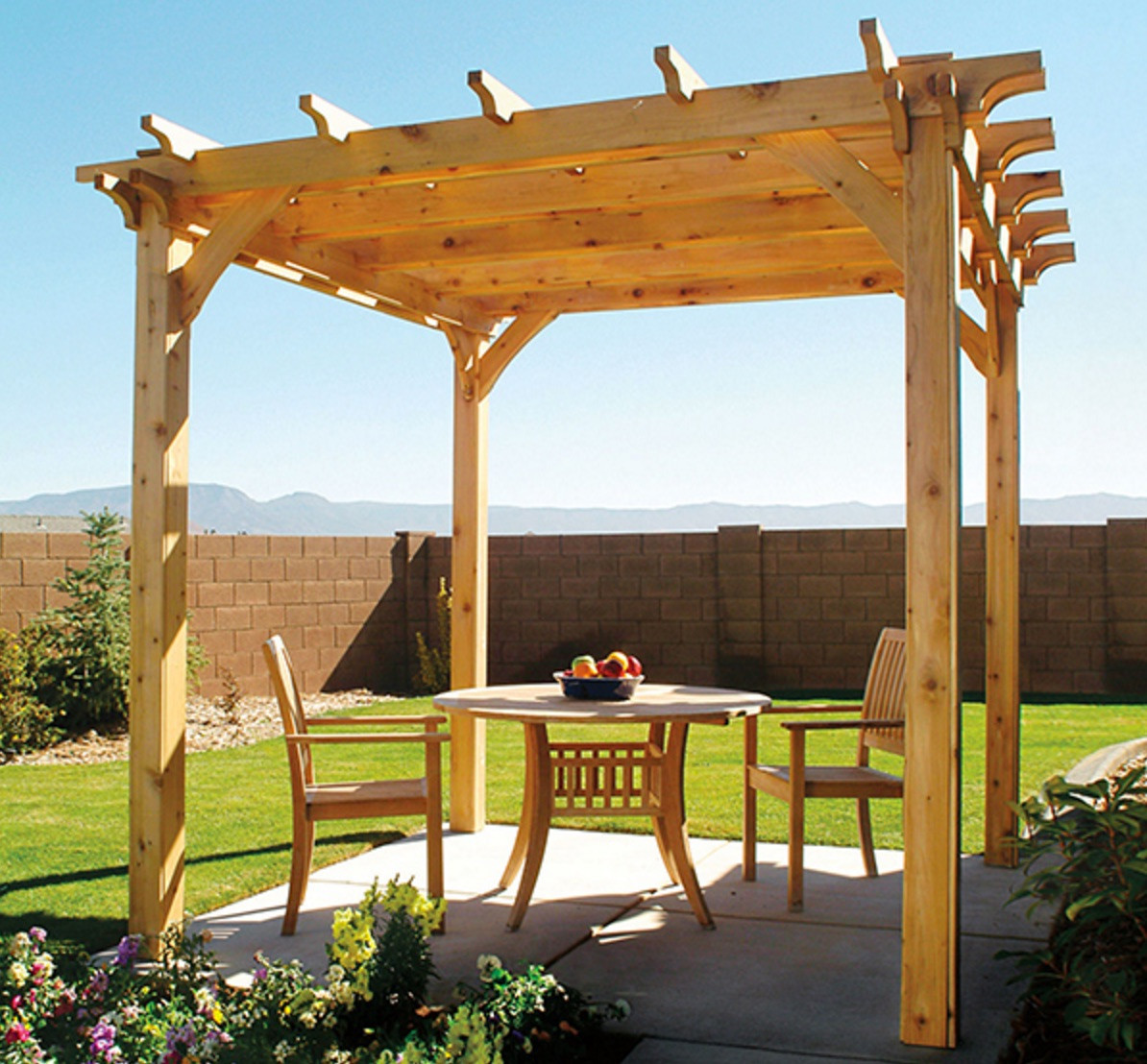 Best ideas about Pergola Plans DIY . Save or Pin DIY Backyard Pergola with Free Plan Now.