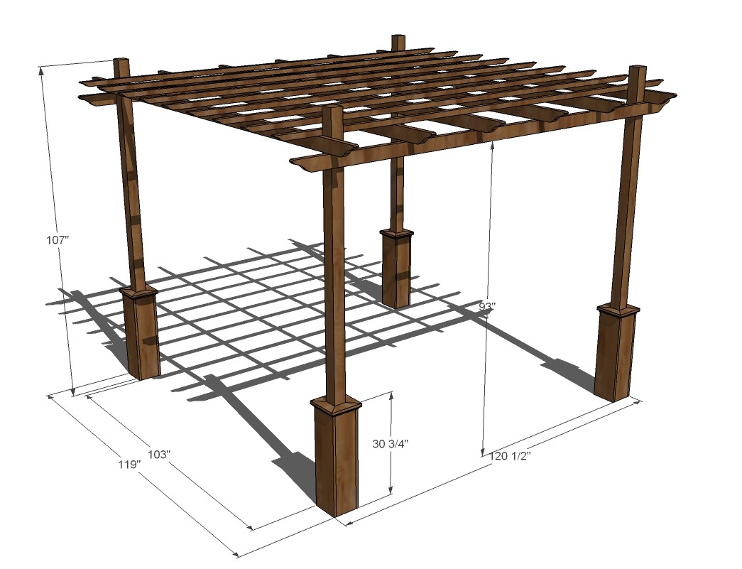 Best ideas about Pergola Plans DIY . Save or Pin Ana White Now.