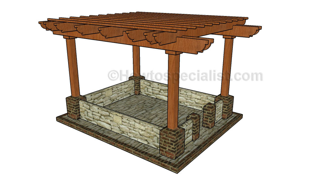 Best ideas about Pergola Plans DIY . Save or Pin How to build a pergola on a patio Now.