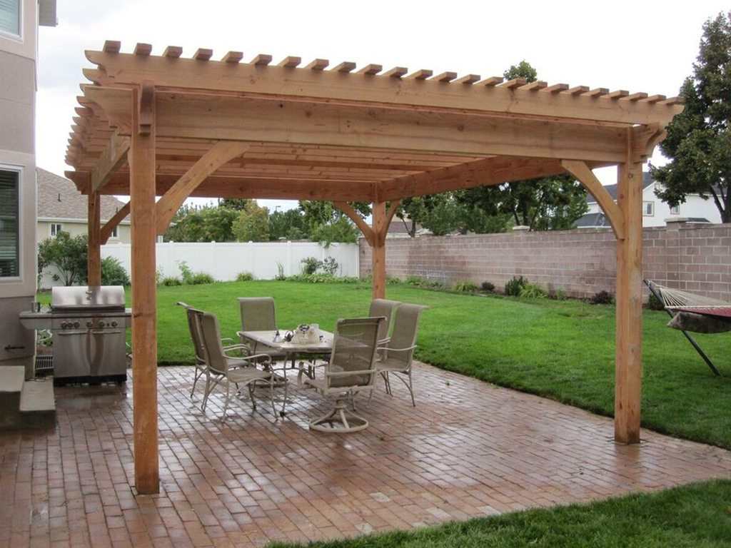 Best ideas about Pergola Plans DIY . Save or Pin Plan For An Easy 16 x 20 DIY Solid Wood Pergola or Now.