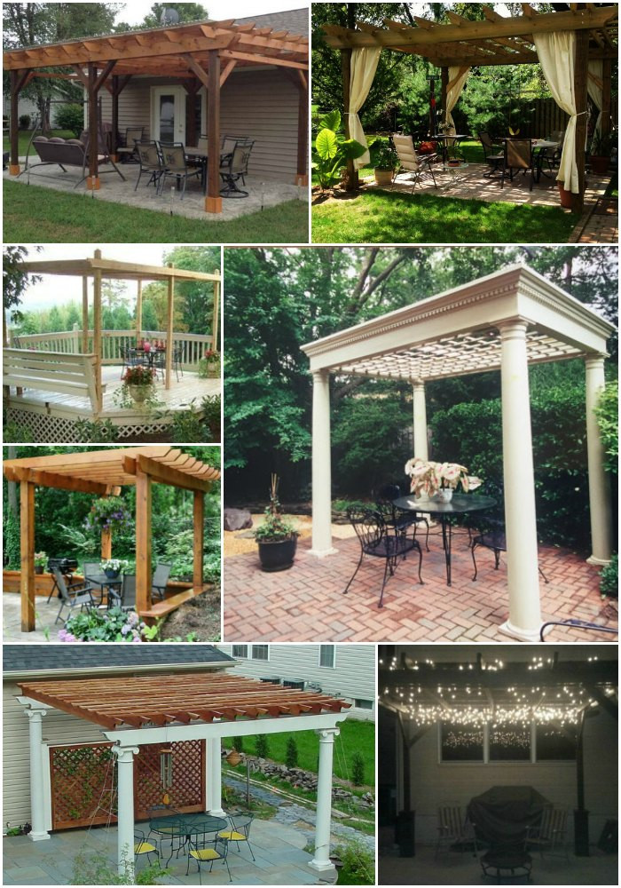 Best ideas about Pergola Plans DIY . Save or Pin 20 DIY Pergolas With Free Plans That You Can Make This Now.