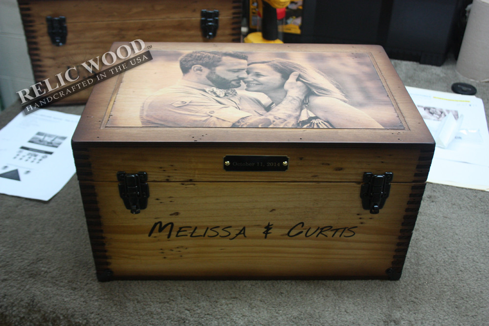 Best ideas about Personal Wedding Gift Ideas . Save or Pin Custom Wedding Anniversary Keepsake Box Now.