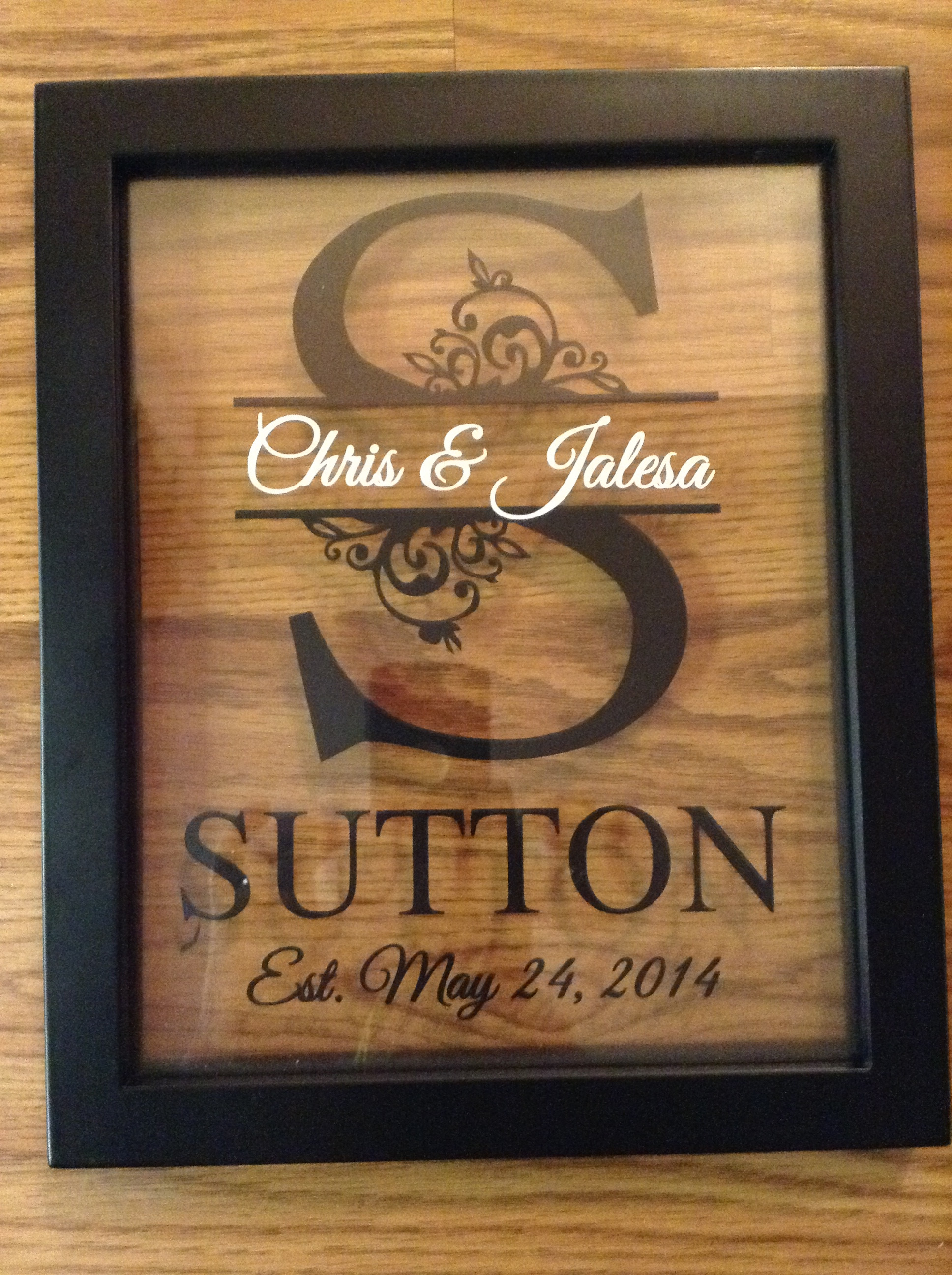 Best ideas about Personal Wedding Gift Ideas . Save or Pin Personalized Last Name Floating Frame 8X10 on Storenvy Now.