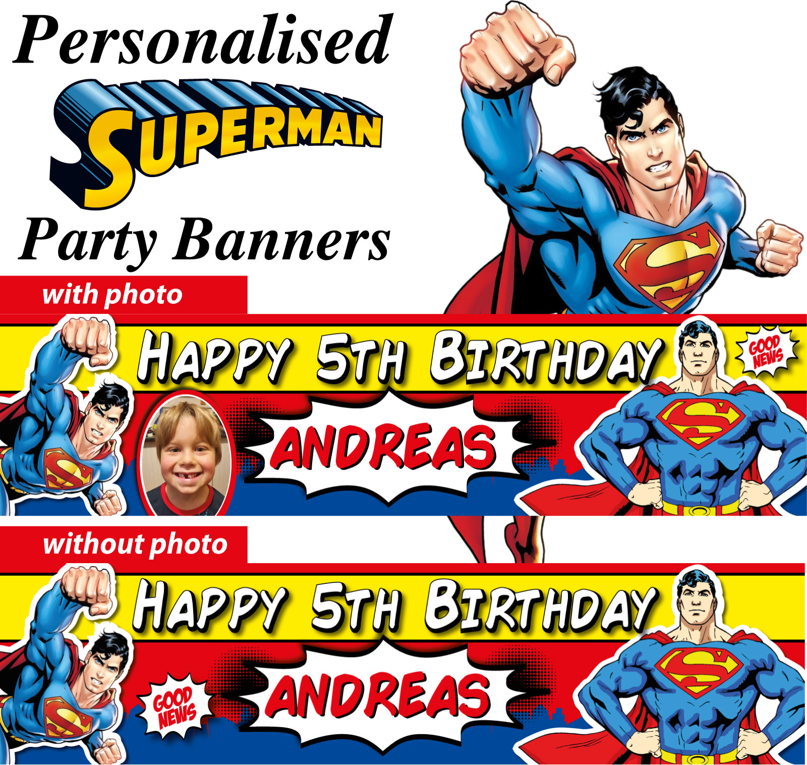 Best ideas about Personalised Birthday Decorations . Save or Pin Personalised Superman Birthday Party Banners Decorations Now.