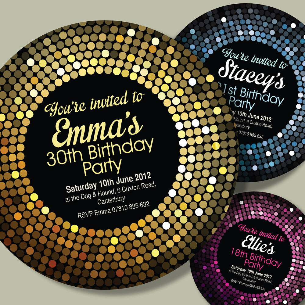 Best ideas about Personalised Birthday Decorations . Save or Pin CIRCLE SHAPED Personalised 18th 21st 30th 40th Birthday Now.