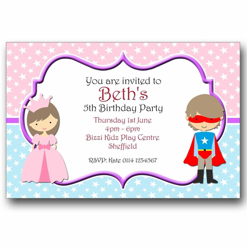 Best ideas about Personalised Birthday Decorations . Save or Pin Personalised Birthday Party Invitations Princess and Now.