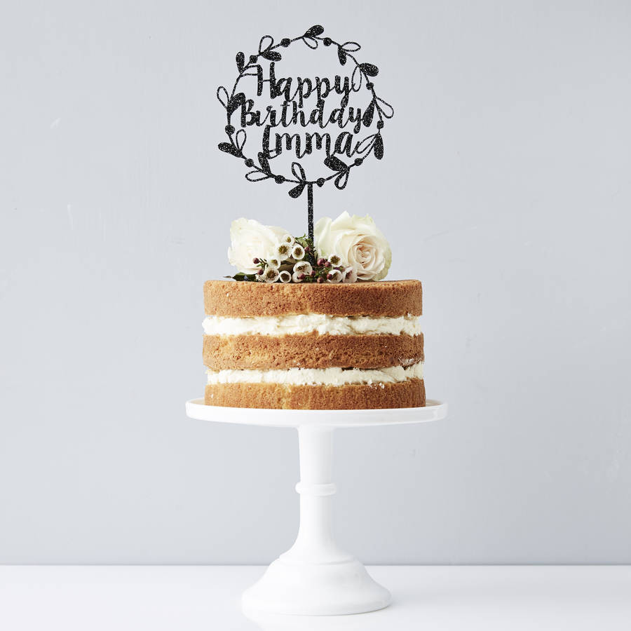Best ideas about Personalised Birthday Decorations . Save or Pin personalised floral birthday cake topper by sophia Now.
