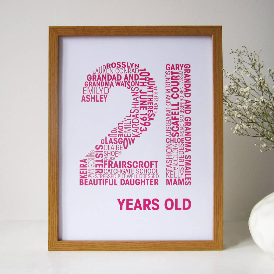 Best ideas about Personalised Birthday Decorations . Save or Pin personalised birthday print by mrs l cards Now.