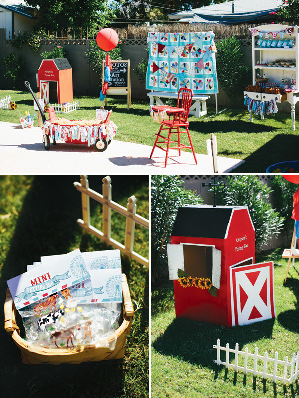 Best ideas about Petting Zoo Birthday Party . Save or Pin Amazing  Rustic & Vintage County Fair First Birthday Now.