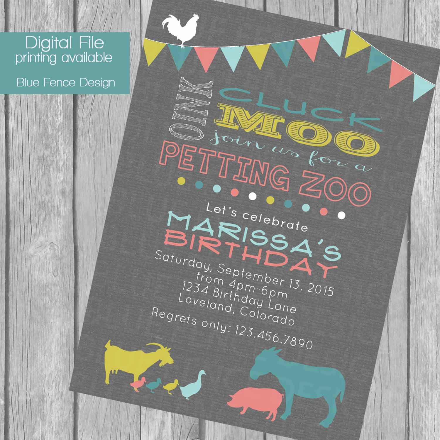 Best ideas about Petting Zoo Birthday Party . Save or Pin Petting Zoo birthday party invitation bunting banner farm Now.