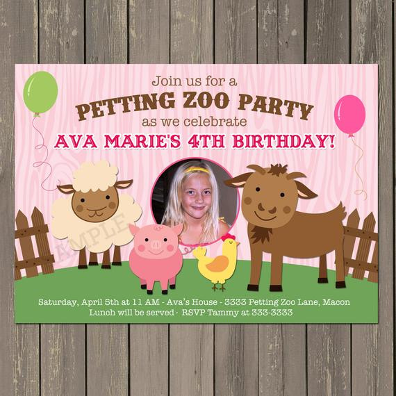 Best ideas about Petting Zoo Birthday Party . Save or Pin Petting Zoo Invitation Farm Birthday Party Invitation in Now.