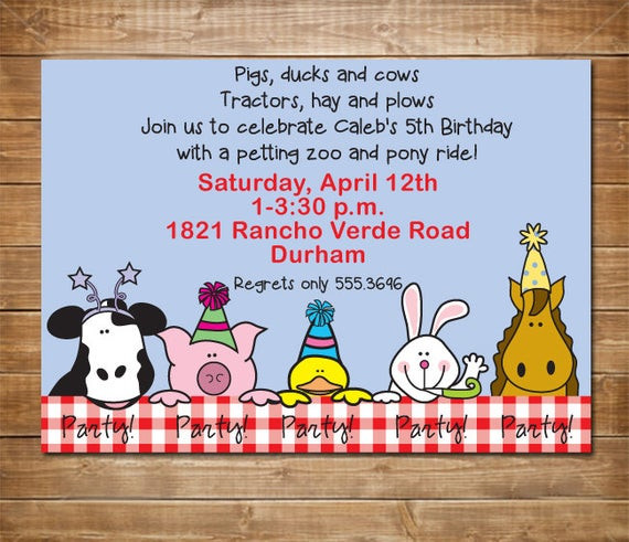 Best ideas about Petting Zoo Birthday Party . Save or Pin Items similar to Petting Zoo Invitation Farm Party Zoo Now.