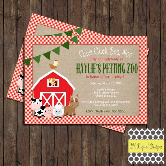Best ideas about Petting Zoo Birthday Party . Save or Pin Items similar to Petting Zoo Birthday Party Invitation on Etsy Now.