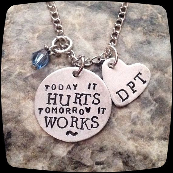 Best ideas about Physical Therapy Gift Ideas . Save or Pin Physical Therapist Gift PT DPT PTA Necklace by Now.