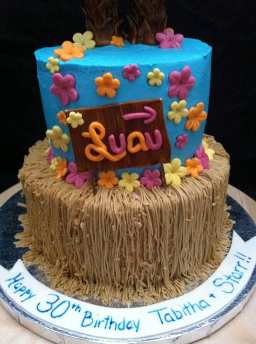 Best ideas about Picture Of A Birthday Cake . Save or Pin Hawaiin Luau Birthday Cake For Twins CakeCentral Now.