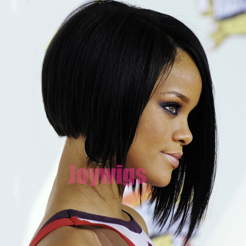 Best ideas about Pictures Of Bob Haircuts For Black Hair . Save or Pin 2016 Rihanna Style Short Layered Bob Hairstyles lace human Now.