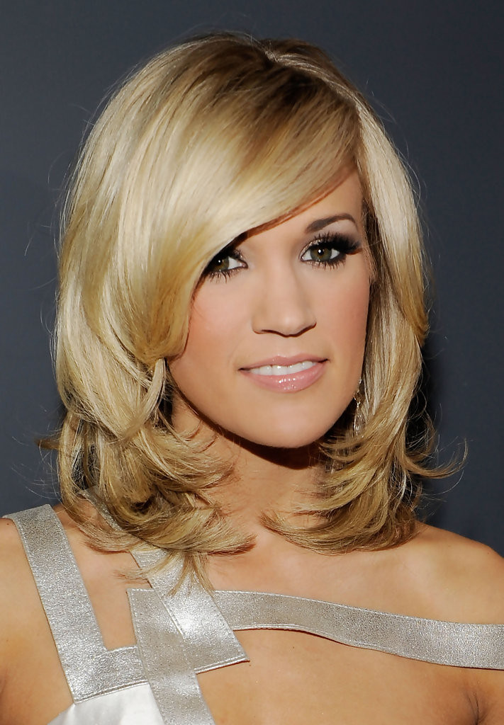 Best ideas about Pictures Of Medium.Length Hairstyles . Save or Pin Carrie Underwood Medium Layered Cut Carrie Underwood Now.