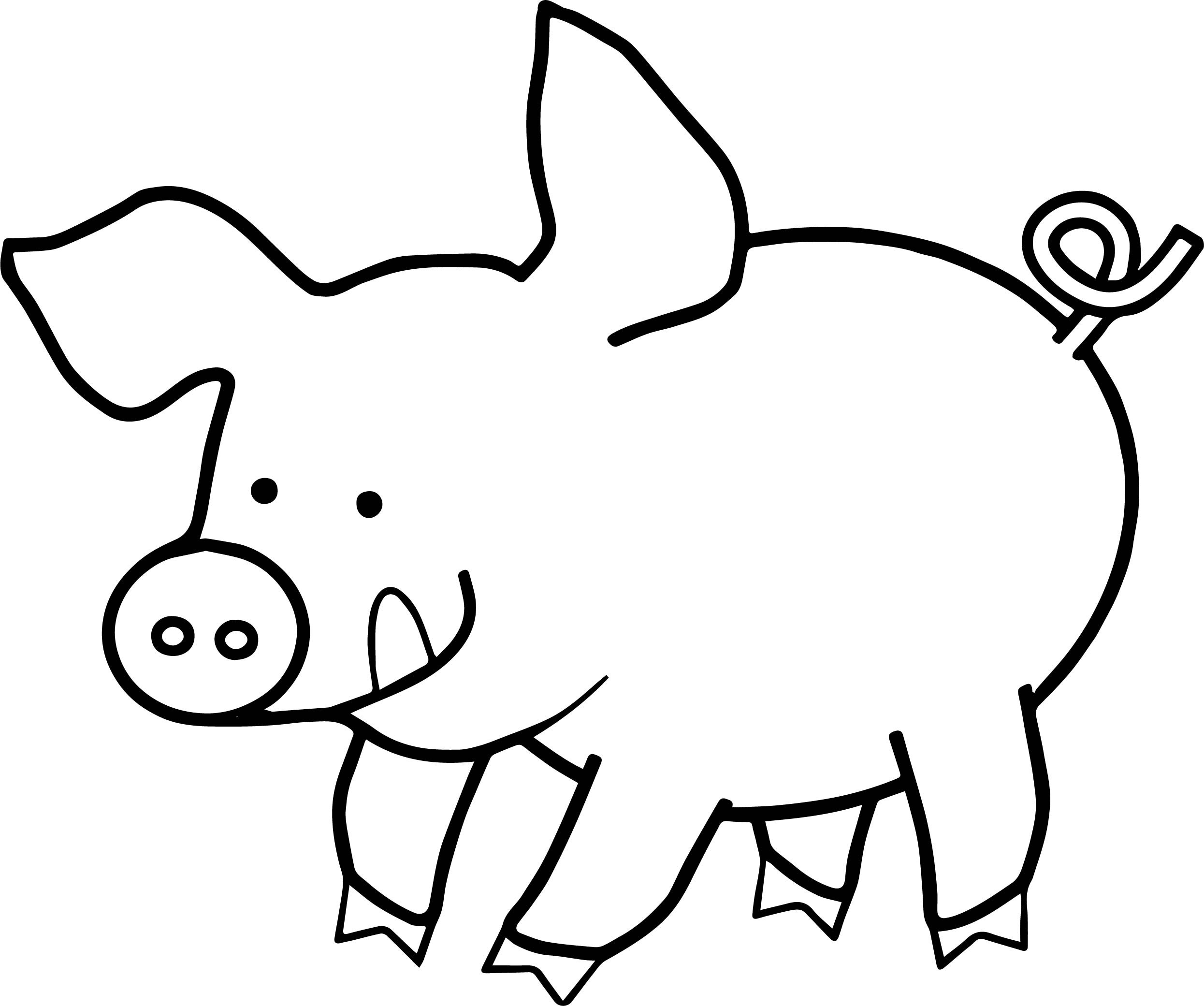 Best ideas about Pig Coloring Pages . Save or Pin Simple Pig Drawing at GetDrawings Now.