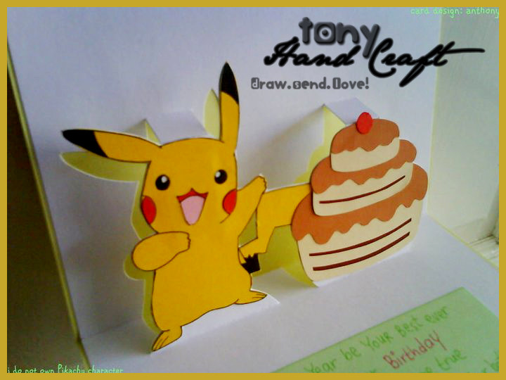 Best ideas about Pikachu Birthday Card . Save or Pin Pikachu Birthday Card Now.
