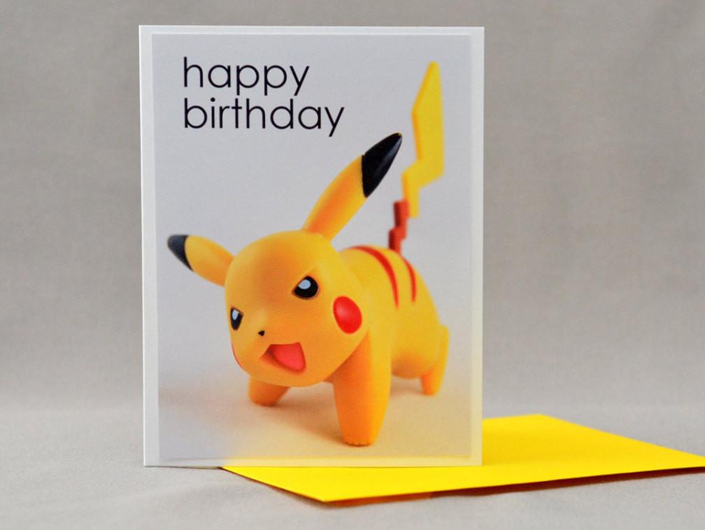 Best ideas about Pikachu Birthday Card . Save or Pin Pikachu Pokemon Birthday Card Now.