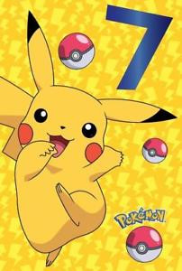 Best ideas about Pikachu Birthday Card . Save or Pin POKEMON AGE 7 TODAY 7TH BIRTHDAY CARD PIKACHU GO NEW GIFT Now.