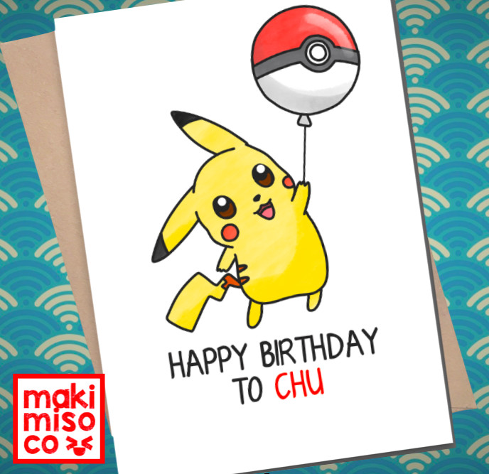 Best ideas about Pikachu Birthday Card . Save or Pin PIKACHU BIRTHDAY Card Love birthday Boyfriend Girlfriend Now.