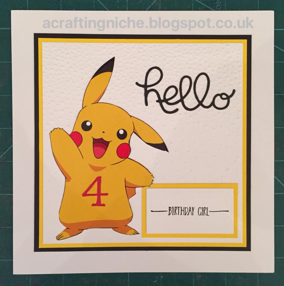 Best ideas about Pikachu Birthday Card . Save or Pin A Crafting Niche A Pokemon Pikachu Birthday Card Now.