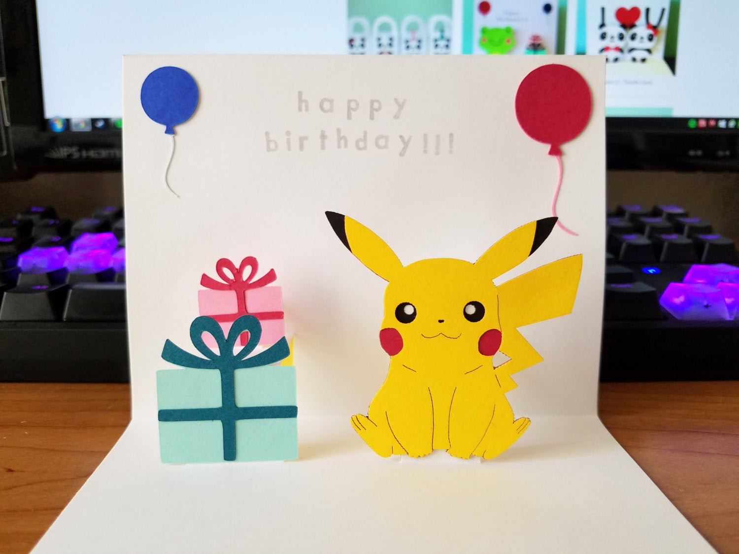 Best ideas about Pikachu Birthday Card . Save or Pin Pop Up Card Pikachu Happy Birthday Now.
