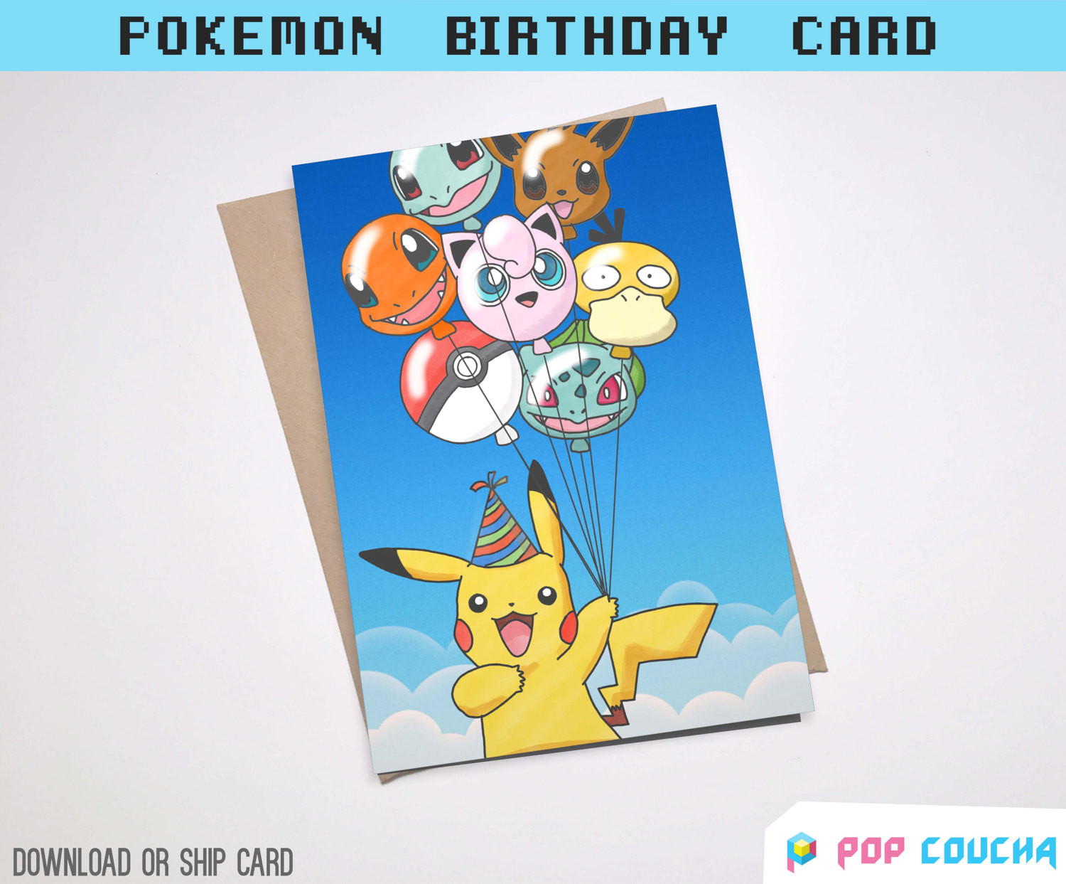 Best ideas about Pikachu Birthday Card . Save or Pin Pikachu birthday card greeting celebration balloon by Now.