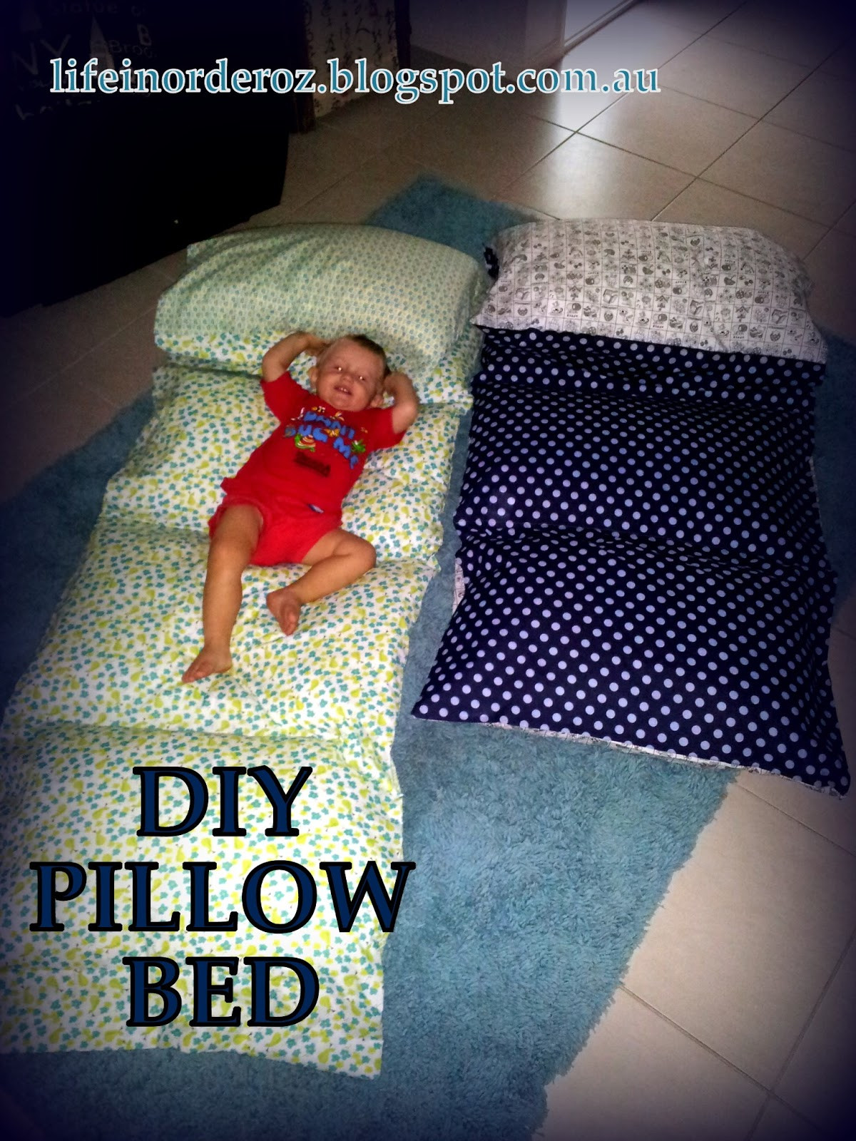 Best ideas about Pillow Bed DIY . Save or Pin Life in Order DIY Pillow Bed Tutorial Now.
