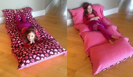 Best ideas about Pillow Bed DIY . Save or Pin DIY Floor Pillow Bed Easy To Follow Video Instructions Now.