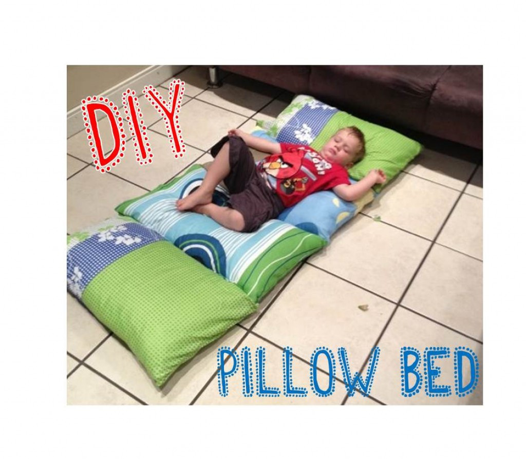 Best ideas about Pillow Bed DIY . Save or Pin DIY Kids Pillow Bed Now.