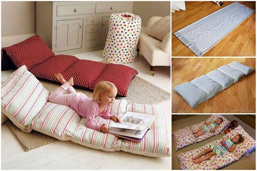 Best ideas about Pillow Bed DIY . Save or Pin Wonderful DIY Floor Pillow Without Sewing Now.