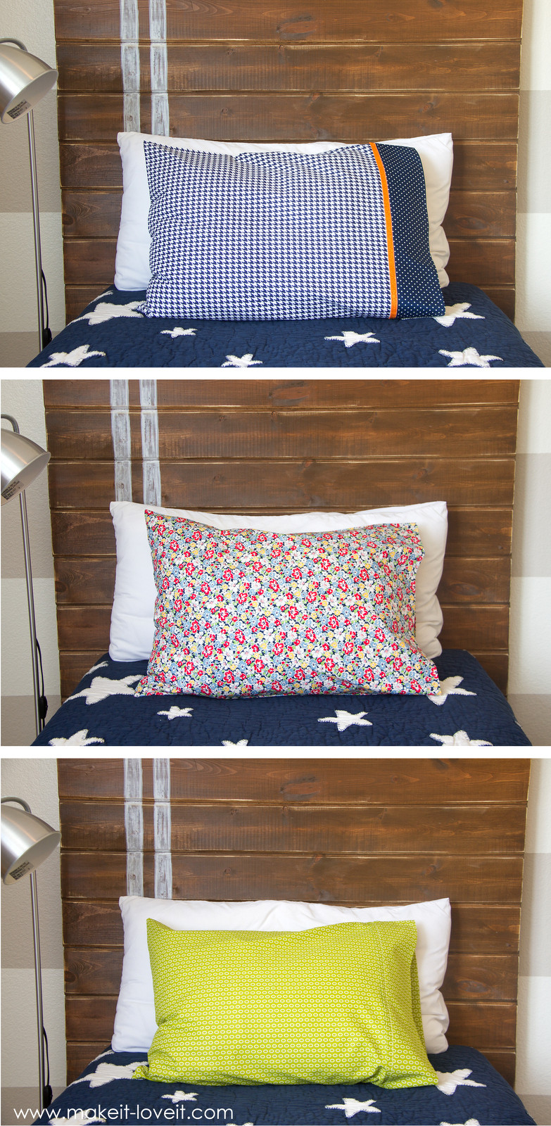 Best ideas about Pillow Bed DIY . Save or Pin DIY Bed Pillow Cases 3 sizes and 3 different styles Now.