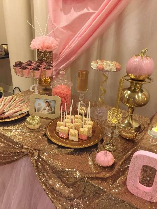 Best ideas about Pink And Gold Birthday Party Decorations . Save or Pin Wedding Theme Pink & Gold Birthday Party Ideas Now.