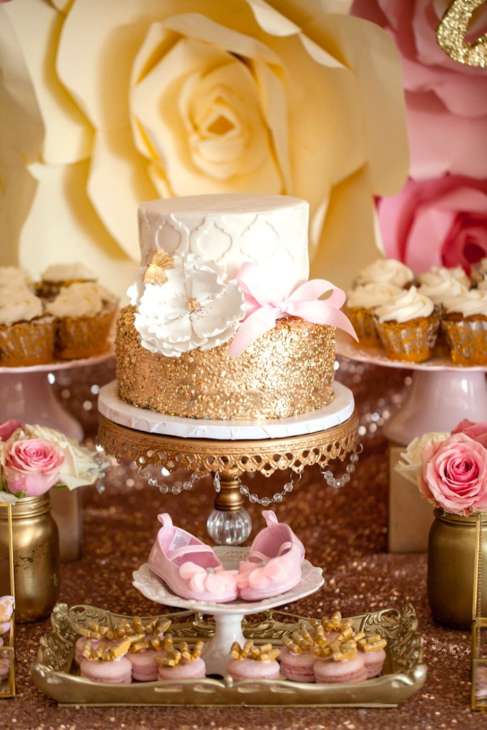 Best ideas about Pink And Gold Birthday Party Decorations . Save or Pin Kara s Party Ideas Pink & Gold Butterfly Baby Shower Now.