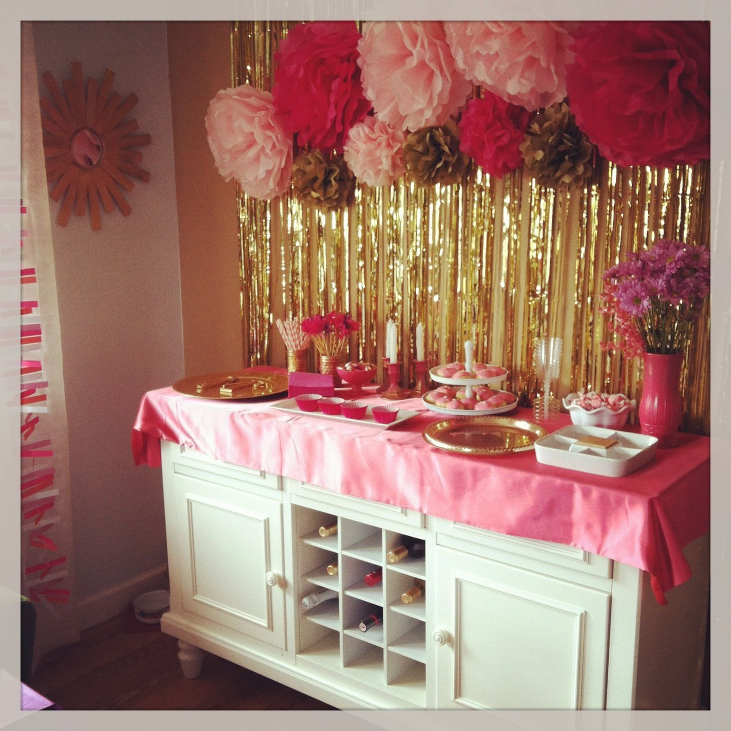 Best ideas about Pink And Gold Birthday Party Decorations . Save or Pin Kids party pink white gold decorations Now.