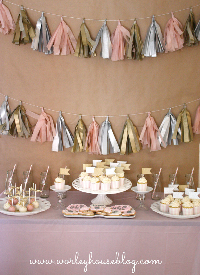 Best ideas about Pink And Gold Birthday Party Decorations . Save or Pin Sweet Pink Gold 3rd Birthday Party Now.