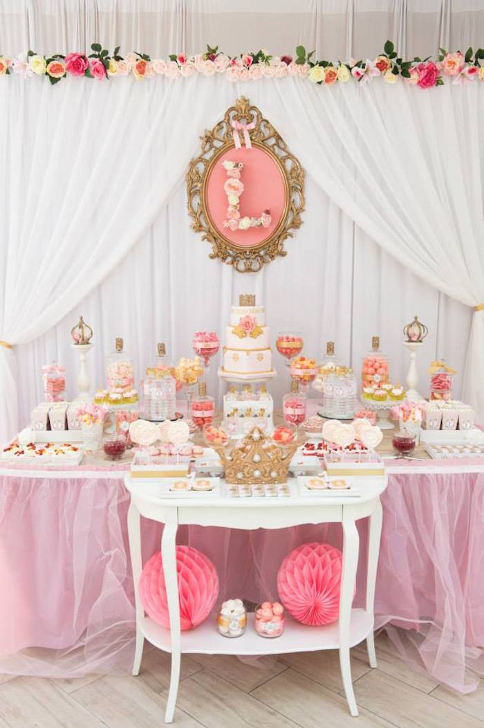 Best ideas about Pink And Gold Birthday Party Decorations . Save or Pin Kara s Party Ideas Pink & Gold Princess Birthday Party via Now.