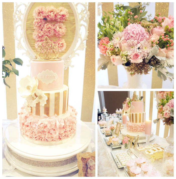 Best ideas about Pink And Gold Birthday Party Decorations . Save or Pin Kara s Party Ideas Pink & Gold Princess Party Now.