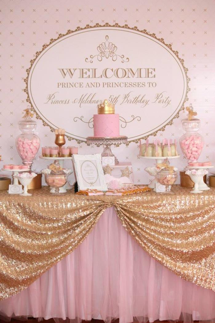 Best ideas about Pink And Gold Birthday Party Decorations . Save or Pin Kara s Party Ideas Pink Gold Royal Princess Party Planning Now.