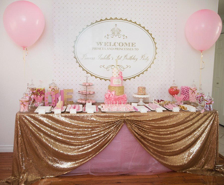 Best ideas about Pink And Gold First Birthday Decorations . Save or Pin Gorgeous Pink & Gold 1ST Birthday Party Now.