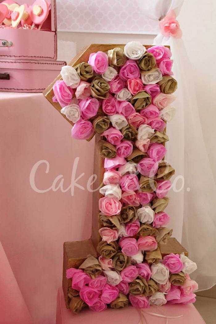 Best ideas about Pink And Gold First Birthday Decorations . Save or Pin Kara s Party Ideas Pink & Gold Princess 1st Birthday Party Now.