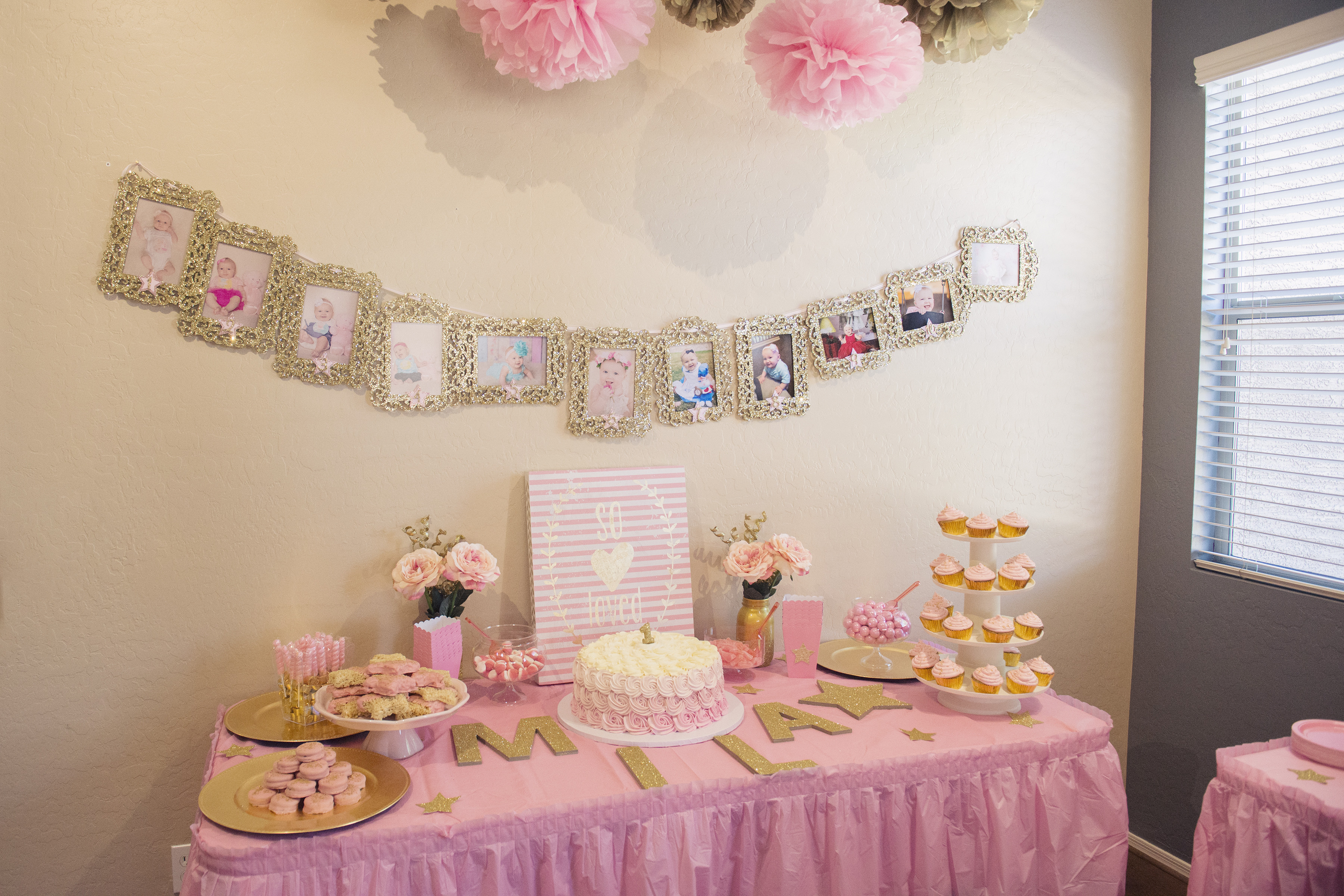 Best ideas about Pink And Gold First Birthday Decorations . Save or Pin Miss Mila s First Birthday Party Pink & Gold Twinkle Now.