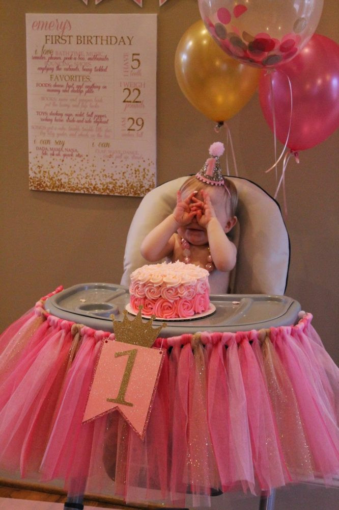 Best ideas about Pink And Gold First Birthday Decorations . Save or Pin 21 Pink and Gold First Birthday Party Ideas Pretty My Party Now.