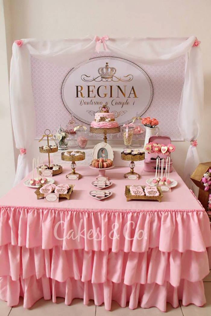 Best ideas about Pink And Gold First Birthday Decorations . Save or Pin Kara s Party Ideas Pink & Gold Princess First Birthday Party Now.