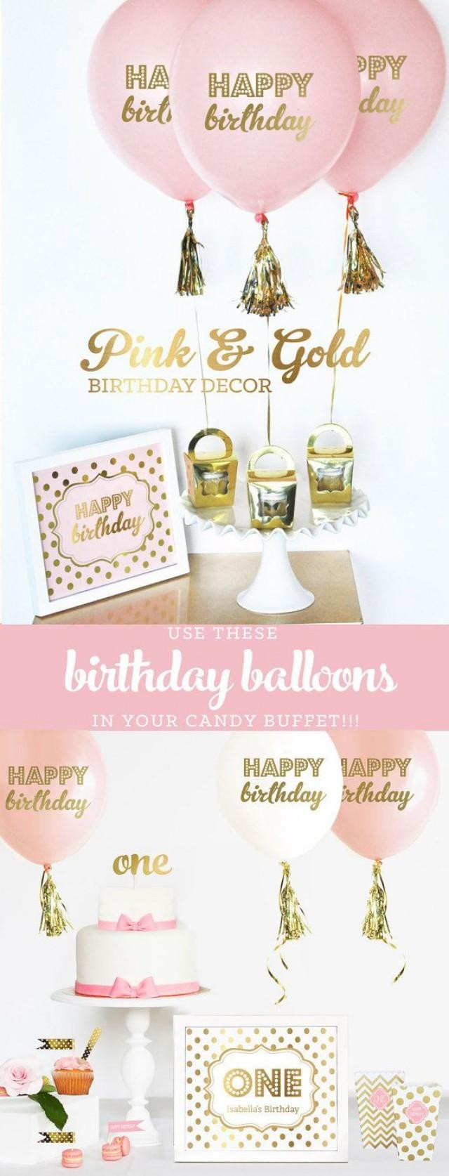 Best ideas about Pink And Gold First Birthday Decorations . Save or Pin Pink And Gold Birthday Decorations Pink And Gold First Now.