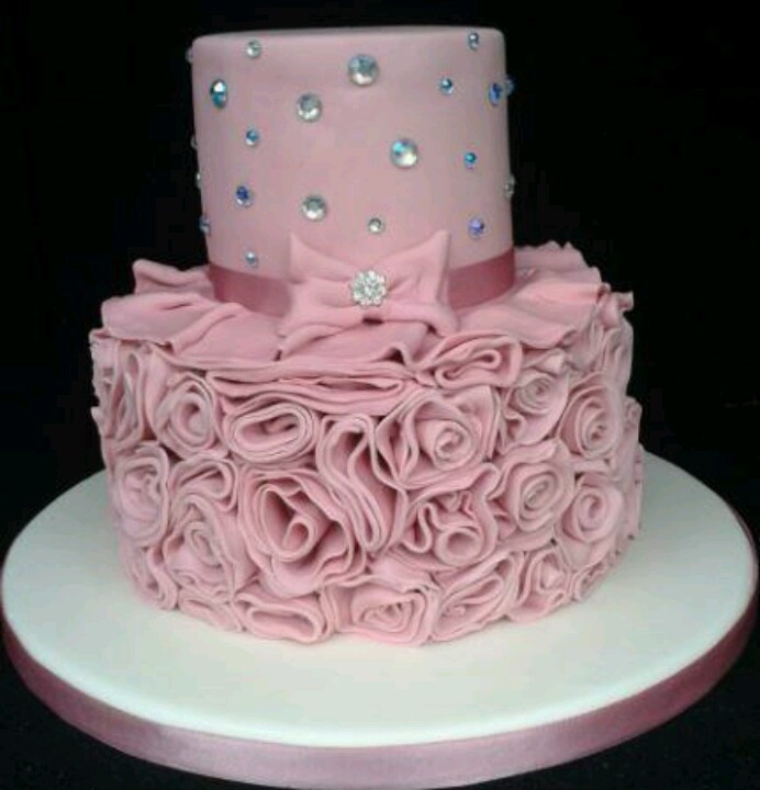 Best ideas about Pink Birthday Cake . Save or Pin pink birthday cake mya s bday but in hot pink Now.